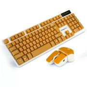 其他 如意鸟 无线键盘鼠标套装 电脑 电视游戏金属键鼠套装机械手感 橙色