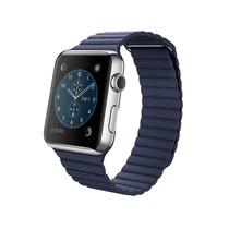 苹果 Apple Watch 智能手表(亮蓝色/42毫米表壳/皮制回环形表带)产品图片主图