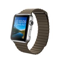 苹果 Apple Watch 智能手表(浅棕色/42毫米表壳/皮制回环形表带)产品图片主图