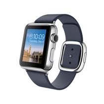 苹果 Apple Watch 智能手表(深蓝色/38毫米表壳/现代风扣式表带)产品图片主图