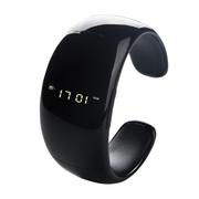 酷道 F1智能手环手表 无线蓝牙手镯腕带腕表运动计步器小米三星苹果红米手机免提通话 黑色