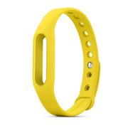小米 智能手环炫彩腕带 真皮腕带 表带(非官方原装) 非原装黄色