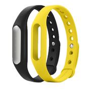 小米 手环 智能防水运动手环 计步器 可监测健康睡眠 黑色原装手环+黄色非官方腕带