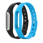 小米 手环 智能防水运动手环 计步器 可监测健康睡眠 黑色原装手环+蓝色非官方腕带