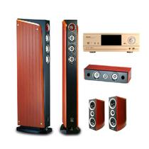 山水 / EX-6MKⅡ5.1家庭影院音响搭配UX800C功放6件套低音炮 桔色产品图片主图