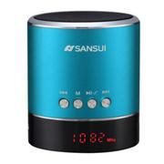 山水 蓝牙音响迷你便携式插卡音箱收音机手机通用MP3音乐播放器 蓝色
