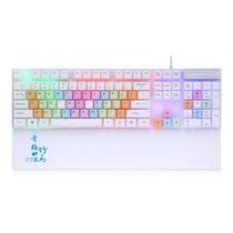 优贵 青梅竹马K216 彩虹LED背光键盘 红轴机械手感 悬浮键帽设计 小苍LOL键盘产品图片主图