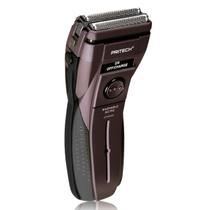 Pritech 电动双刀头男人水洗耐用剃须刀充电 刮胡刀鬓毛胡须刀 棕色产品图片主图