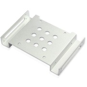IT-CEO X2Z1 2.5英寸或3.5英寸转5.25英寸光驱位 硬盘位转接架 兼容SSD固态/HDD机械硬盘 银色
