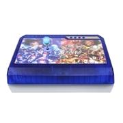 拳霸(QANBA) Q4 冰蓝PS3/PC 二合一街机游戏摇杆手柄 3D街霸面版 全三和 全清水透明