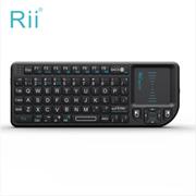 其他 美国Rii mini V3迷你无线键盘 掌上游戏设备智能键盘激光笔背光键盘 X1黑色2.4G版