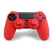 其他 利乐普 PS4 手柄硅胶防滑保护软套  手柄保护套+2颗手柄摇杆防滑帽 3合1套装 奔放红