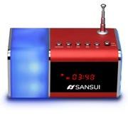 山水 E11s 炫彩灯光 蓝牙音箱 插卡小音箱 迷你收音机音响 红色
