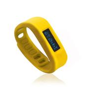 喜越 D2健康运动智能手环睡眠监测计步器安卓苹果蓝牙手镯 黄色4.0版本