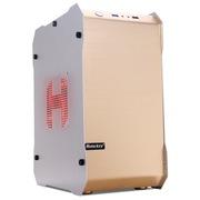 游戏悍将 冷静王-冰锋/金 铝制个性机箱(个性化面板/U3.0/背线/大电源/人性化挂件/全兼容SSD)