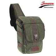 吉尼佛 /相机包91982 单肩双肩两用摄影包 帆布斜背包 专业数码单反包 军绿色