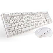 其他 米徒2.4G办公家用笔记本超省电无线键盘鼠标套装无线键鼠套装游戏机械手感键鼠套件游戏套 C300白色无线键鼠