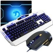 新盟 曼巴蛇鼠标 有线键盘套装 游戏键鼠套装 LOL CF游戏键鼠套 游戏键盘鼠标套装 k39白+M393