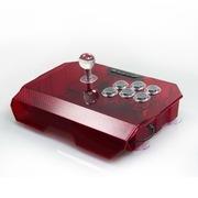 拳霸(QANBA) N1-雷霆PS3/PC街机游戏摇杆安卓手柄拳皇 QQ游戏街机平台比赛装备 红色透明小方档