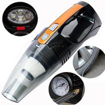 车志酷 车载吸尘器 带充气泵、测胎压、照明 车家两用、干湿两用、充气、打气、车用汽车吸尘器 四合一版(黑色)产品图片主图