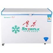 雪花 BD/BC-338Q 338升 冷藏冷冻单温冷柜 卧式冰柜 白色