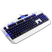 新盟 K39 背光机械手感键盘 lol台式电脑笔记本有线发光 游戏键盘 白色字键发光