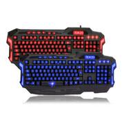 新盟 曼巴蛇K23 笔记本电脑有线USB背光发光 游戏键盘 蓝光至尊版 蓝色背光版