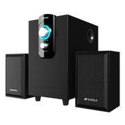 山水 家用音响台式电脑音箱低音炮2.1多媒体迷你小音响木质HIFI 11D