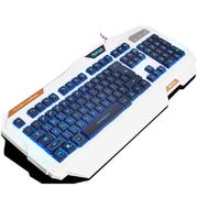 新盟 曼巴狂蛇背光键盘cf lol台式电脑笔记本有线发光夜光游戏健盘 双色发光键盘
