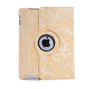 小魔女 花纹系列保护套 适用苹果iPad2/3/4 new ipad套 黄色