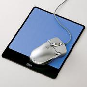 SANWA SUPPLY 山业SANWA MPD-ALUMBL 金属铝制鼠标垫 适合激光/光学鼠标 日本制造 蓝色