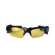 CASMELY 韩国 蓝牙眼镜 立体声听歌打电话司机必备 太阳镜墨镜 偏光眼镜 深灰色