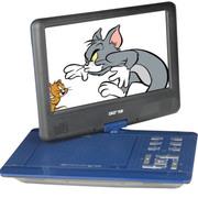 先科 988 9.5英寸便携移动DVD 迷你电视 高清视频播放机 游戏插卡音响 蓝色
