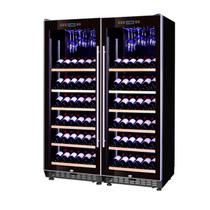 赛鑫 SRT-128A双开门组合红酒柜压缩机恒温酒柜展示柜 12个展示架+挂杯架产品图片主图