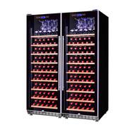 赛鑫 SRT-168A压缩机双开门组合恒温红酒柜 挂杯架+18榉木架