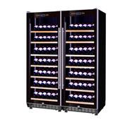 赛鑫 SRT-128A双开门组合红酒柜压缩机恒温酒柜展示柜 14个展示架