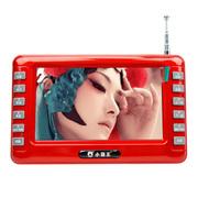 小霸王 视频播放器SU-7001A 4.3英寸老人看戏机高清视频扩音器便携式收音机 红色 标配无卡