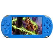 小霸王 掌上PSP游戏机8000A 4.3寸屏9000款经典可下载游戏 儿童GBA掌机街机王 蓝色 标配8G版本+8G内存卡