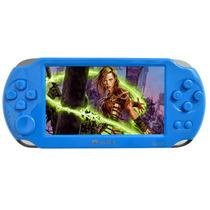 小霸王 掌上PSP游戏机8000A 4.3寸屏9000款经典可下载游戏 儿童GBA掌机街机王 蓝色 标配8G版本+8G内存卡产品图片主图