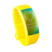喜越 D1便携U盘时尚智能手环计步器情侣手表手镯 黄色