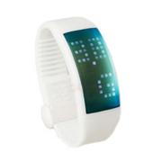 喜越 D1便携U盘时尚智能手环计步器情侣手表手镯 白色