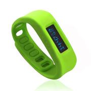 喜越 D2健康运动智能手环睡眠监测计步器安卓苹果蓝牙手镯 草绿色2.1版本