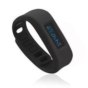 喜越 D2健康运动智能手环睡眠监测计步器安卓苹果蓝牙手镯 黑色2.1版本