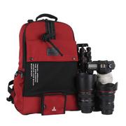 吉尼佛 /双肩摄影包21315 数码旅行背包 尼龙防雨防盗相机包 佳能尼康单反包 枣红色