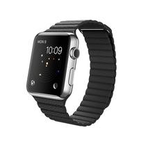 苹果 Apple Watch 智能手表(黑色/42毫米表壳/皮制回环形表带)产品图片主图