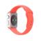 苹果 Apple Watch SPORT 42毫米银色铝金属表壳搭配橙色运动型表带产品图片2