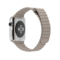 苹果 Apple Watch 智能手表(石纹色/42毫米表壳/皮制回环形表带)产品图片4