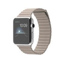 苹果 Apple Watch 智能手表(石纹色/42毫米表壳/皮制回环形表带)产品图片主图