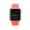 苹果 Apple Watch SPORT 42毫米银色铝金属表壳搭配橙色运动型表带产品图片4