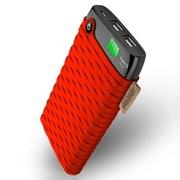 卡格尔(Cager) B10000 超智能移动电源 聚合物 安全充电宝 10000毫安 实标大容量 双USB快速充 女王红